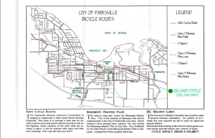 City of Parksville Bike Routes