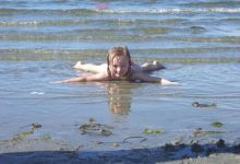 Fun on rathtrevor beach in parksville